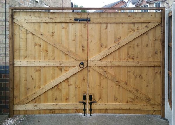 Double Tongue & Groove Gates Back View