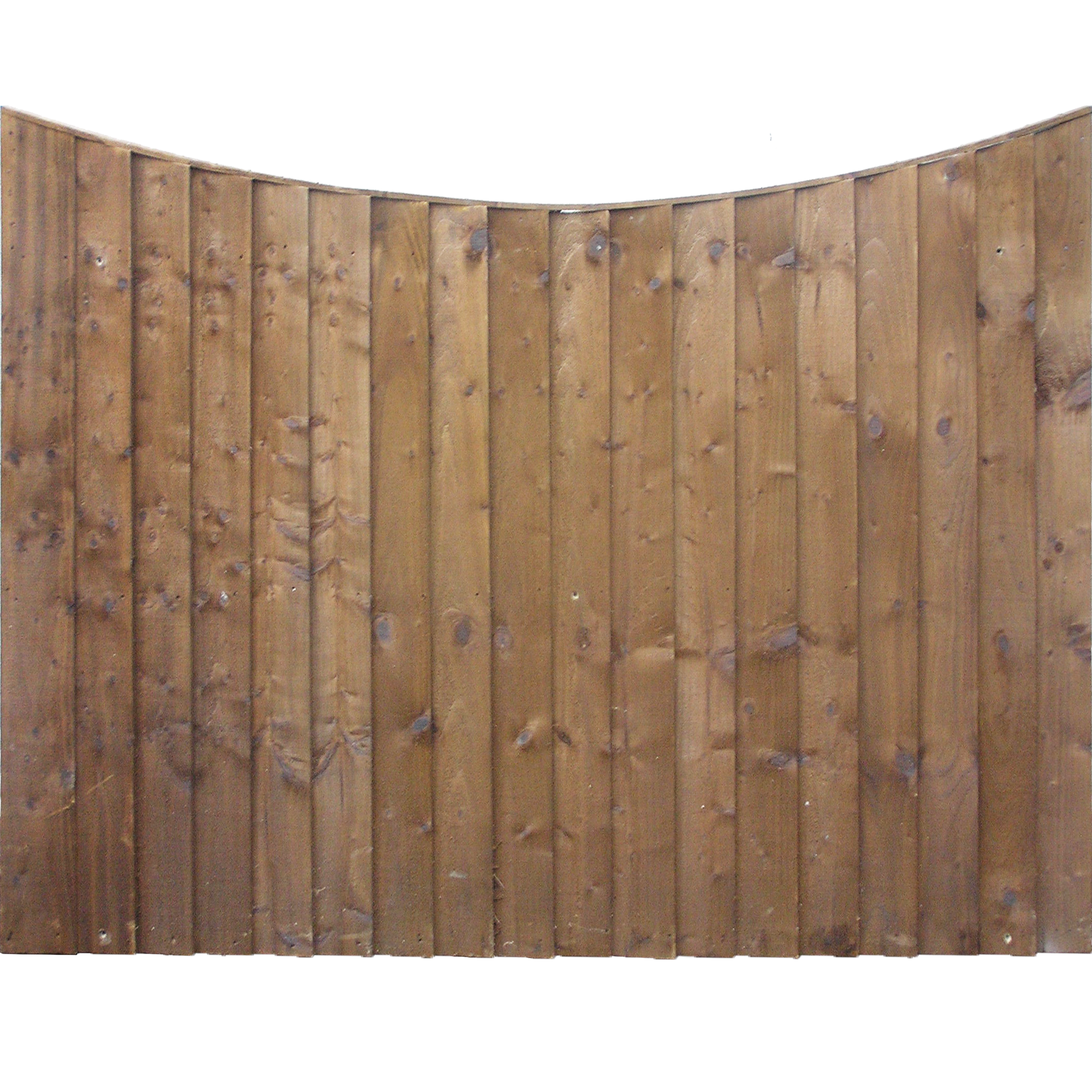 Concave Top Fence Panels